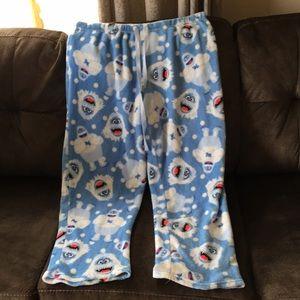 Fleece pajamas with the abominable snowman